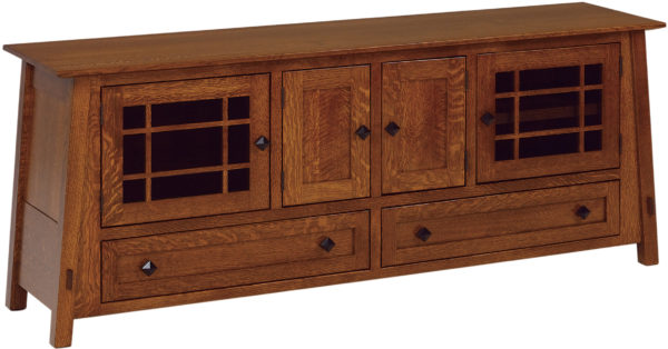 Amish McCoy 72 Inch TV Cabinet with Drawers