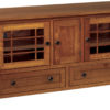Amish McCoy 60 Inch TV Cabinet with Drawers
