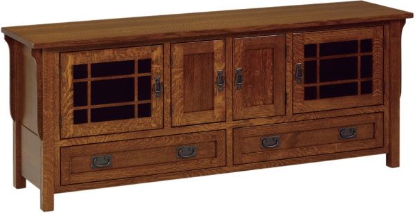 Amish Landmark 72 Inch TV Cabinet with Drawers