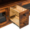 Amish Unity TV Cabinet Open Pullout Detail