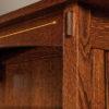 Amish Mesa Bookcase Inlay Detail