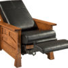 Brady Amish Recliner in Reclined Position