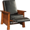 Amish Mesa Mission Recliner Reclined