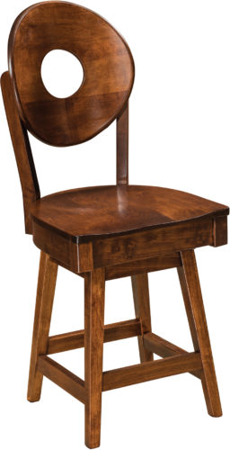 Amish Bridgeport Hardwood Swivel Bar Stool