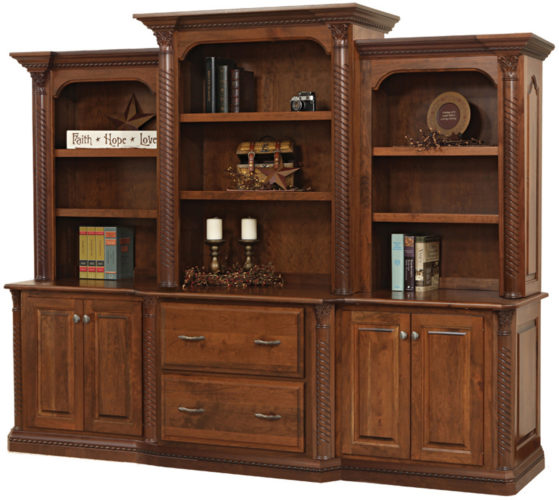 Amish Lexington Deluxe Base and Hutch