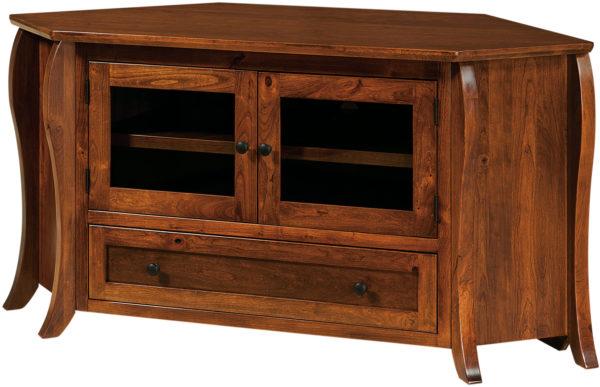 Amish Quincy TV Corner Cabinet