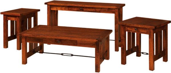 Amish Jordan Occasional Table Set