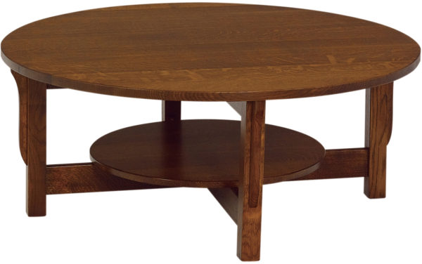 Amish Landmark Round Coffee Table