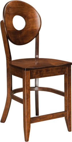 Amish Bridgeport Stationary Bar Stool