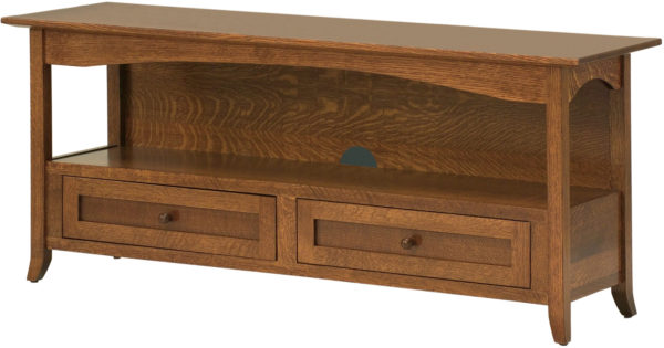 Amish Shaker Hill Open TV Cabinet