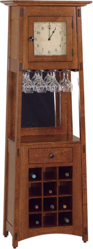 Amish McCoy Wine Rack Clock
