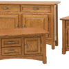 Amish West Lake Enclosed Occasional Table Set