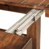 Amish Wellington Trestle Dining Table Slide Detail