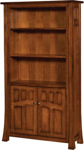 Amish Bridgefort Mission Door Bookcase