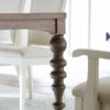 Amish Tuscany Dining Table Leg Detail