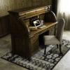Amish Castlebury Rolltop Desk Room Setting