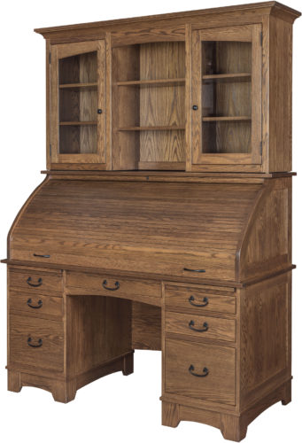Amish Noble Mission Desk Top Hutch