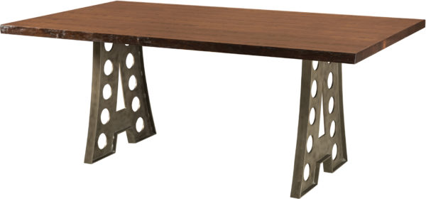 Amish Alpha Industrial Dining Table