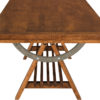 Amish Apgar Village Dining Table End Detail