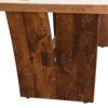Amish Delphi Trestle Dining Table Detail