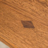 Amish Grand Central Pedestal Dining Table Detail