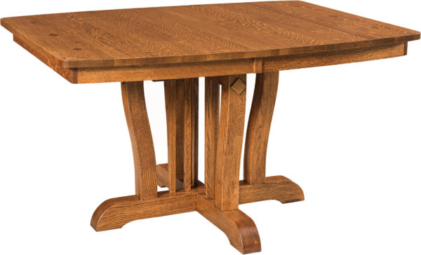 Amish Grand Central Pedestal Dining Table