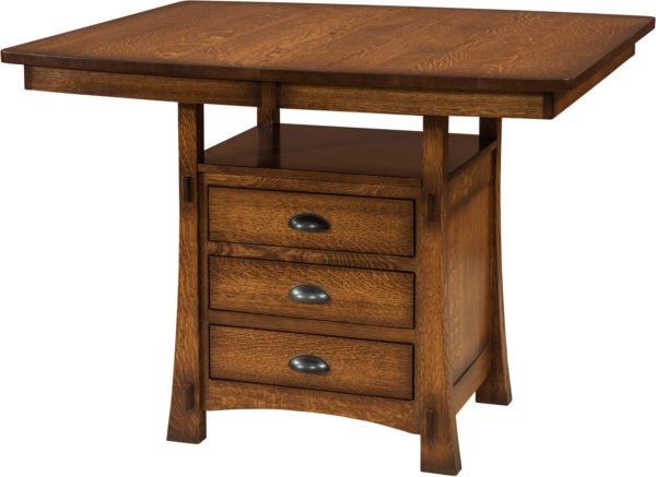 Amish Modesto Cabinet Dining Table