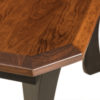 Amish Monarch Leg Dining Table Detail