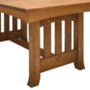 Amish Old Century Trestle Table Detail