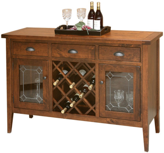 Amish Jacoby Wine Cabinet