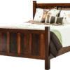 Amish Shaker Wood Paneled Bed