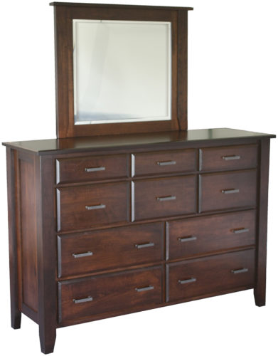 Amish Ashton 10 Drawer Mule Dresser
