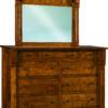 Amish Brockport 9 Drawer Mule Dresser