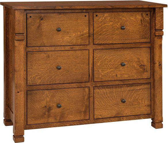 Amish Brockport Six Drawer Mule Dresser