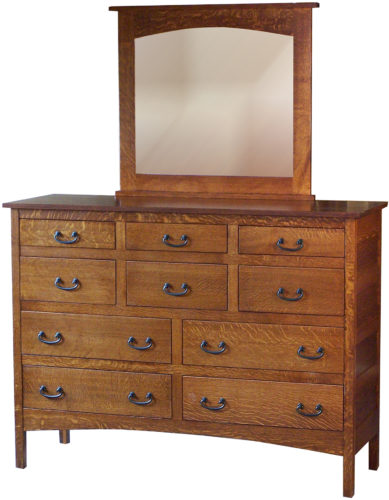 Amish Granny Mission Mule Dresser with Square Mirror