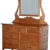 Amish Granny Mission Narrow Seven Drawer Dresser