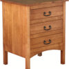 Amish Flat Sided Granny Mission Three Drawer Nightstand