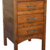 Amish Narrow Granny Mission Three Drawer Nightstand