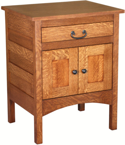 Amish Granny Mission Two Door Hardwood Nightstand