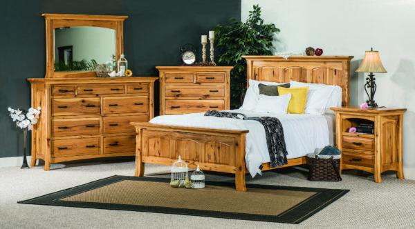 Amish Rustic Hickory Homestead Bedroom Set