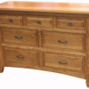 Amish Homestead Seven Drawer Narrow Dresser