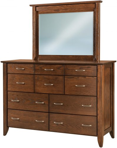 Amish Jaymont Oak 10 Drawer Mule Dresser