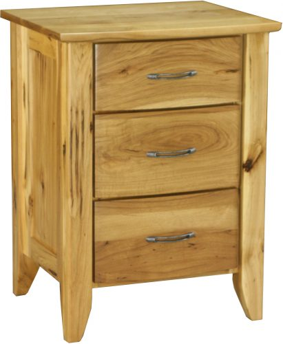Amish Rustic Hickory Jaymont Nightstand