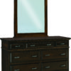 Amish Kountry Treasure Seven Drawer Dresser with Mirror