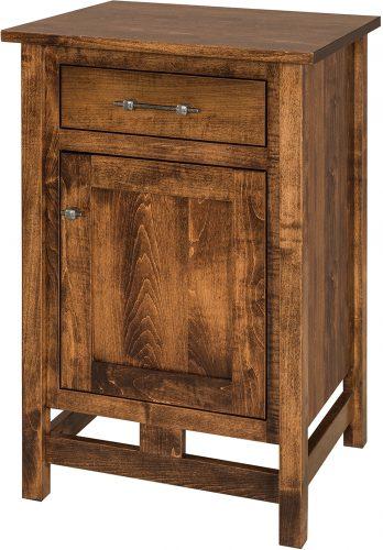 Amish Brown Maple Lakota Nightstand