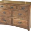 Amish Narrow Shaker 7 Drawer Dresser