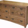 Custom Wide Shaker 7 Drawer Dresser