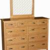 Amish Wide Shaker 9 Drawer Mule Dresser