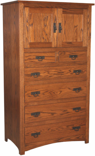 Amish Oak Shaker Armoire Chest