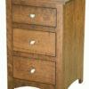 Amish Shaker Narrow Three Drawer Nightstand